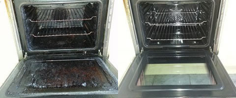 oven cleaning in Southport before and after photo