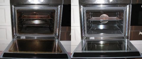 oven cleaning in Southport before and after picture